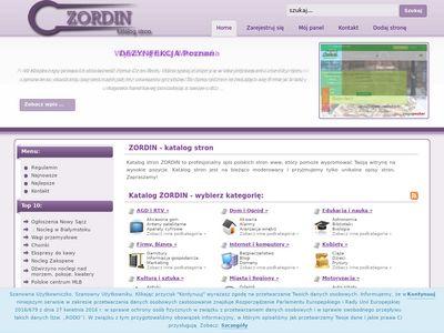ZORDIN - Wartościowy katalog stron www