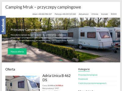 Camping Mruk - Sprzedaż przyczep kempingowych
