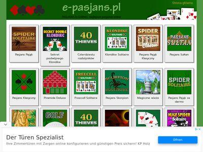 e-pasjans.pl - najlepsze odmiany pasjansa
