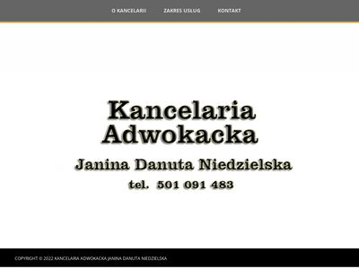 Janina D.Niedzielska - Adwokat Elbląg