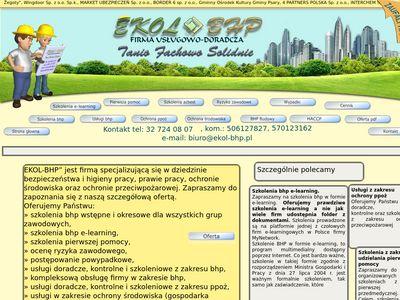 Ekol-Bhp - Szkolenia bhp i kursy bhp