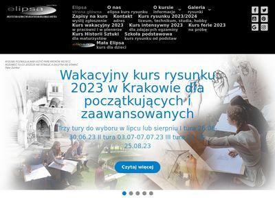 Elipsa - Szkoła rysunku odręcznego Kraków