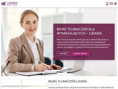 Lidaria.pl - Biuro Tłumaczeń Warszawa