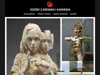 Rzeźby Drewno i Kamień - Rzeźby drewniane