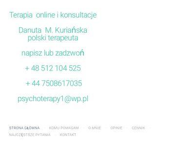 Danuta Kuriańska - Gabinet Psychoterapii