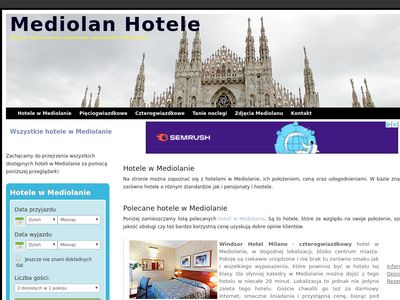 mediolan-hotele.pl - Hotele w Mediolanie