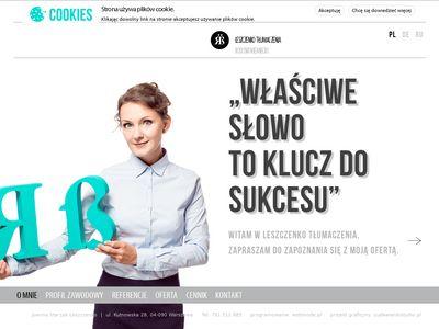 Leszczenko - Tłumaczenia: niemiecki, rosyjski