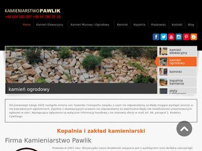 Kamieniarstwo Pawlik - Kamień ozdobny piaskowiec elewacyjny