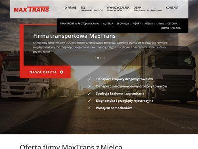 MaxTrans - Wypożyczalnia samochodów