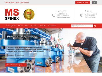 MS Spinex narzędzia skrawające