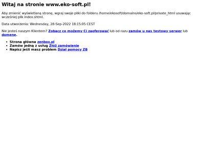 Eko-Soft - Ewidencja odpadów