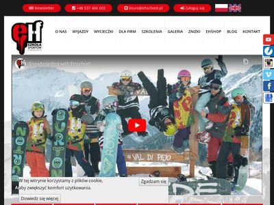 EHSchool - Snowboard i nauka jazdy na nartach