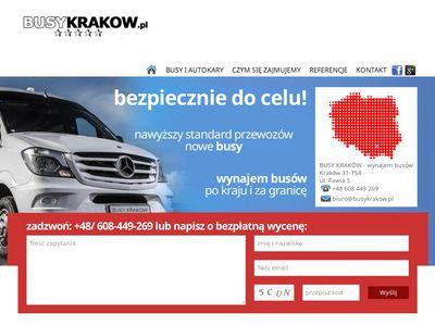 Przewóz osób Kraków