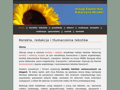 Korektor-tekstow.pl - Korekta tekstów