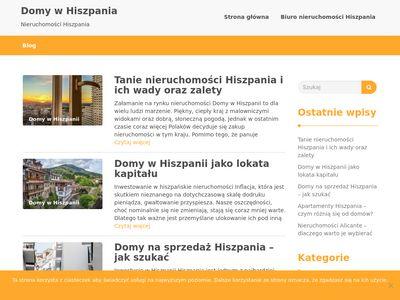 Domy na sprzedaż w Hiszpanii - blog internetowy