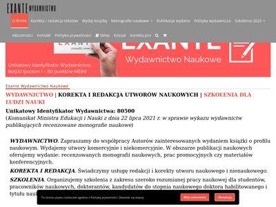 Exante TC - Szkolenia z zarządzania